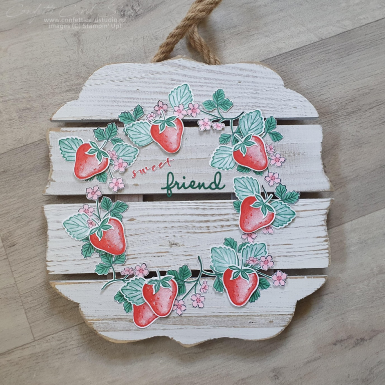 SWEET STRAWBERRY WOODEN SIGN