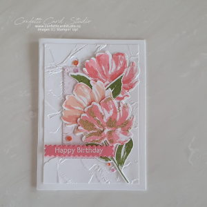 Birthday Flowers Handmade Card