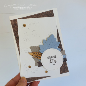 Stitched Leaves Handmade Card