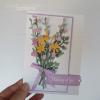Quiet Meadow Wild Flowers Handmade Birthday Card