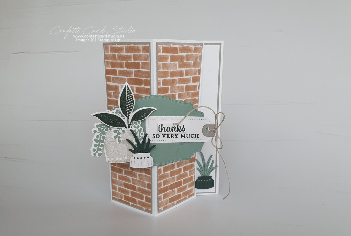 Plentiful Plants Standing Easel Card