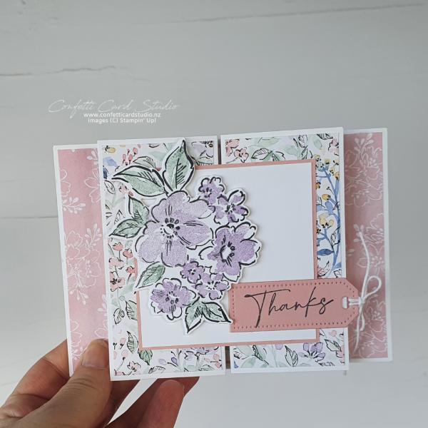 Hand-penned Fancy Fold Card