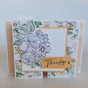 Papaya Hand-Penned Gate Fold Card