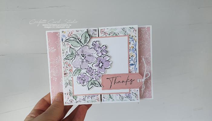 Hand-Penned Fancy Gate Fold Card Bride
