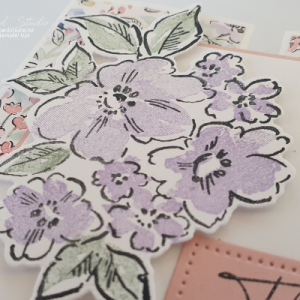 Pink Hand-Penned Gate Fold Card