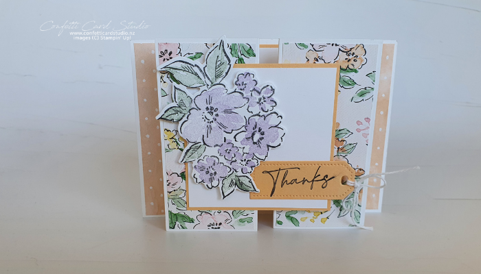 Hand-Penned Fancy Gate Fold Card Front